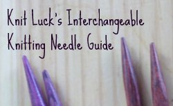 Interchangeable Knitting Needle Guide Logo